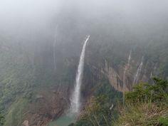 Noh Ka Likai Falls in Cherrapunji, Meghālaya