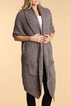 My Tribe Sleeveless Long Cardigan  :: Seriously.  I must have this.  [lkm]