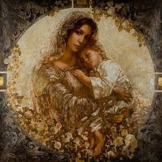 pictures of Mother of God - Google Search Blessed Mother Mary, Blessed Virgin Mary, Jesus Mother, Queen Mother, Baby Jesus, Catholic Art, Religious Art, Religious Icons, Jesus E Maria