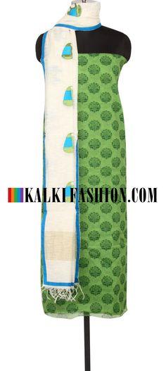 Buy Online from the link below. We ship worldwide (Free Shipping over US$100)  http://www.kalkifashion.com/salwar-kameez/unstitched-salwar-kameez.html
