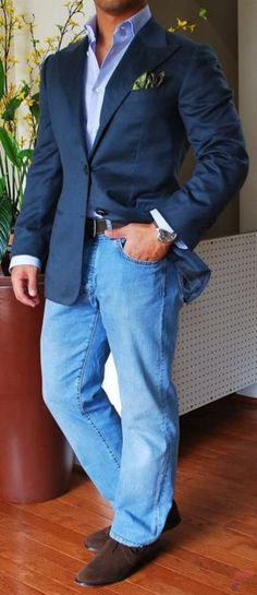 Men sport coat with jeans (6)