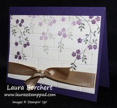 Embossing with the Stampin' Up! Brick Wall Folder & Adding Ivy - Laura's...