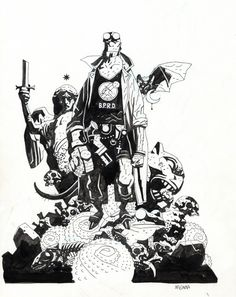 #Mike Mignola #Illustration #Comic