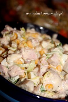SAŁATKA Z PIECZARKAMI I WĘDZONYM KURCZAKIEM Appetizer Salads, Appetizers, Chicken Egg Salad, Cooking Recipes, Healthy Recipes, Polish Recipes, Italian Recipes, Salad Recipes, Food To Make