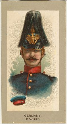 Fatigue Cap, Infantry, Germany, from the Military Uniforms series (T182) issued by Abdul Cigarettes