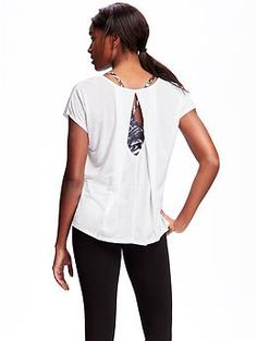 Go-Dry Cool Cut-Out Top for Women | Old Navy