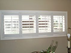 Explore inspiring High Quality Basement Window Blinds Small Shutters For Inside Basement Windows ideas from Ashley Davis to upgrade your living area. Blinds For Small Windows, Small Shutters, Small Window Curtains, High Windows, Window Shutters, Window Blinds, Inside Shutters For Windows, Shutter Blinds, Large Windows