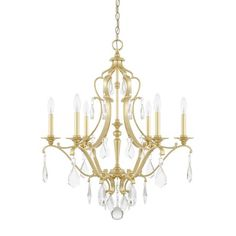 Rachelle 6-Light LED Crystal Chandelier
