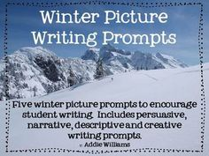 FREE Winter Picture Writing Prompts. Could use my own pictures. Students would be curious enough to ask questions about the places shown to create a discussion.