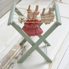 Gorgeous! A mini clothes horse.