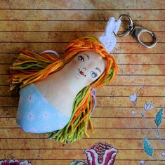Brelok - Panna Ścinka - ręcznie malowana ( 1 ) Panna, Brooch, Personalized Items, Earrings, Jewelry, Ear Rings, Jewellery Making, Stud Earrings, Jewerly