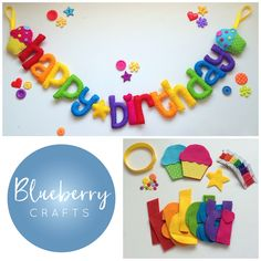 This listing is for a DIY version of my happy birthday banner. This sew your own kit includes everything you need except for a needle and scissors. It comes with pre-cut felt shapes, ribbons, buttons (where applicable), thread, stuffing and step by step instructions. The banner can be used year after year as a decoration to help celebrate family birthdays! Available with cupcakes, balloons or rainbows (for a supplement) at either end it really is a unique and fun addition to th...