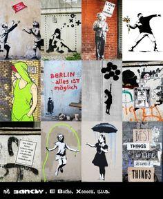 Hochwertiger DIN A4 Wandkalender 2016 mit den schönsten Berliner - und Banksy Street Art Motiven. Jedes Motiv kannst Du auch als Poster einzeln verwenden und hast so 12 schöne Originalmotive aus der Berliner und Banksy Street Art Szene! Gedruckt auf hochwertiges, 250g/m² starkes Bilderdruckpapier, matt gestrichen. Wire-O-Bindung mit Aufhänger, schwarzNeu, OriginalverpackungVersand 2,50€ oder Selbstabholer