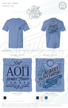 Alpha Omicron Pi | AOII | Starry Night Formal | South by Sea | Greek Tee Shirts | Greek Tank Tops | Custom Apparel Design | Custom Greek Apparel | Sorority Tee Shirts | Sorority Tanks | Sorority Shirt Designs