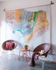 Image result for vintage texas wall map garza marfa