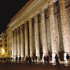 In the beautiful and little-known Piazza di Pietra are the remnants of Hadrian's Temple.  Don't miss this historic jewel in #Rome!