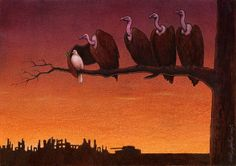 It's an upward battle, Peace Dove!       Am a great admirer of Pawel Kuczynski (pawelkuczynski.co...) and his needle sharp, thought-provoking, right-on the button images.