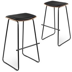 Dawson Backless Faux Leather Barstools (Set of by Dwell Home. Get it now or find more Bar Stools at Temple & Webster. Industrial Bar Stools, Industrial Style, Portable Stool, Bar Stools For Sale, Australia Living, Back To Black, Foot Rest, Temple, Leather