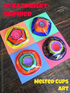 Relentlessly Fun, Deceptively Educational: 3D Kandinsky-Inspired Melted Cups Art