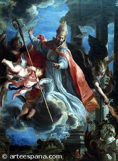 """""""El Triunfo de San Agustín"""" de Claudio Coello. Pintura Barroca en España, siglo XVII"""