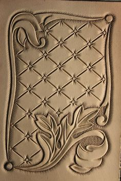 Leather Stamps, Leather Art, Leather Books, Leather Tooling, Leather Carving, Leather Working Patterns, Leather Book Covers, Small Leather Wallet, Leather Projects