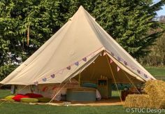 We love these luxury bell tents and tipis are nestled away in lush meadows at Swanton Morley in Norfolk.