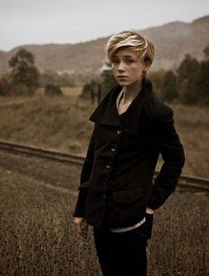 short & blonde