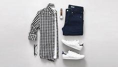 4 combinações de sobreposições com camisa, camiseta e jaqueta