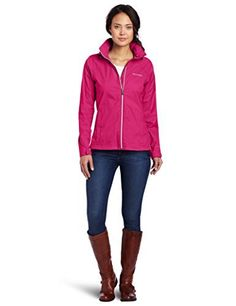 The Columbia Women's Switchback II Jacket is a packable rain jacket with a lot of style.  It is a is water-resistant jacket with side vents, a stowaway hood, and a front-zip closure.
