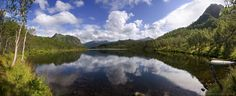 https://flic.kr/p/oJ4c1Q | a Northern slice of Paradise | Storvatnet lake in the Northern part of the Lofoten islands, a perfect little idyll with a waterfall refilling the lake, mountains, beautiful birch forest and quiet waters to perfectly reflect that elaborate summer sky