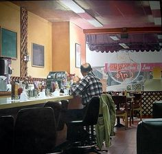 Village  Cafe - Ralph Goings - 1990