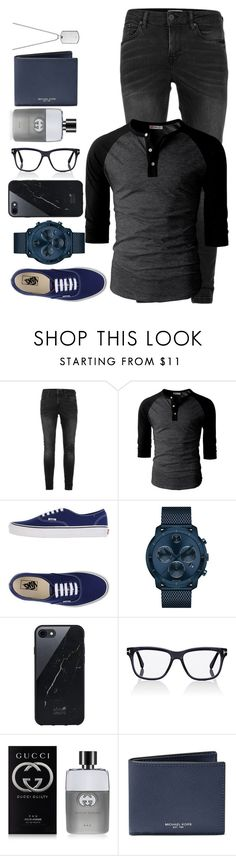 """16 / 01 / 16"" by angelbrubisc ❤ liked on Polyvore featuring Topman, Vans, Movado, Native Union, Tom Ford, Gucci, Michael Kors, Emporio Armani, men's fashion and menswear"
