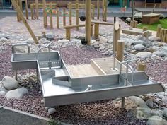 Stainless Steel Water Rill and Pump | Timotay Playground Design and Equipment