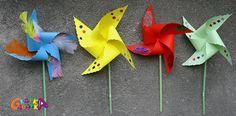 Papierowe wiatraczki DIY