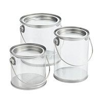 Miniature Clear Paint Cans