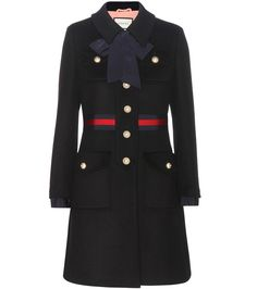 Gucci - Wool coat - Embellished with the label's signature striping to the…