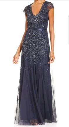 Awesome Awesome Adrianna Papell New Cap-Sleeve Embellished Gown Size 18W midnight 2018 Check more at http://24store.cf/fashion/awesome-adrianna-papell-new-cap-sleeve-embellished-gown-size-18w-midnight-2018/