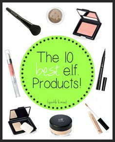In case you didn't know, e. is a super affordable makeup brand that has such a huge selection of products it can be a little overwhelming. This is SO helpful. Pin now- stock up on cheap makeup later! All Things Beauty, Beauty Make Up, Diy Beauty, Beauty Hacks, Beauty Inside, Looks Style, Looks Cool, Best Elf Products, Beauty Products