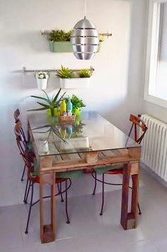 mesa de pallet reciclar e decorar