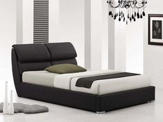 Italian Design Pedro Double Black PU Leather Wooden Bed Frame http://www.shopprice.com.au/wooden+bed+frame