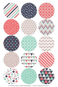 Digital Collage Sheet Digital Bottlecap Images Triangle Collection Personal & Commercial Use One Circle Scrapbook, Scrapbook Paper, Bottle Cap Crafts, Bottle Caps, Bottle Cap Images, Collage Sheet, Craft Party, Digital Collage, Sell On Etsy