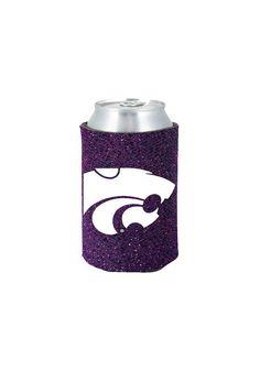 Kansas State Wildcats (KSU) Purple Glitter Can Koozie  http://www.rallyhouse.com/shop/kstate-wildcats-kansas-state-wildcats-purple-glitter-can-koozie-1565732 #5.99