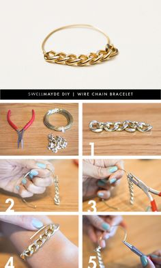 swellmayde: DIY | WIRE CHAIN BRACELET