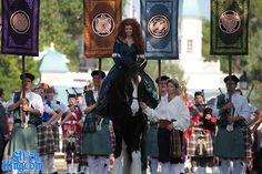 Merida's Coronation. I LOVE that she's riding Angus!!!!