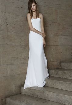 cool Minimal Wedding Dress Style Less is More - Stylendesigns.com!