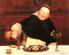 The Monk's Repast, Walter Dendy Sadler.