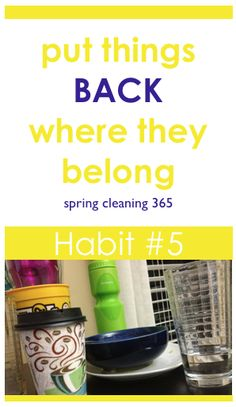 Cleaning Habit #5