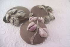 Lavender/sage green  3 fabric covered buttons ♡ by EmbellishedLife2