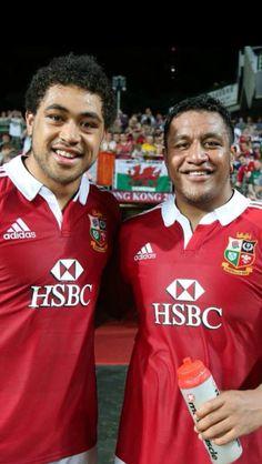 Toby Faletau & Mako Vunipola Rugby 7's, British And Irish Lions, All Blacks, Mad, Sports, Hs Sports, Sport