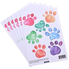 BetterUS 42 Pcs Watercolor Paw Print Decals Mural Wall Cartoon Sticker Children's Bedroom Decor * Find out more about the great product at the image link. (This is an affiliate link) #WallDcor